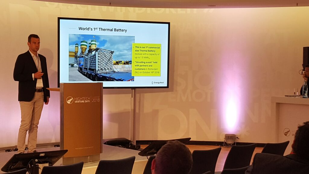 Erik Diedrich presents EnergyNest at HighTech Venture Days