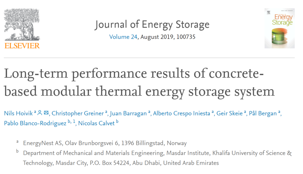 Validation of our modular Thermal Battery system performance